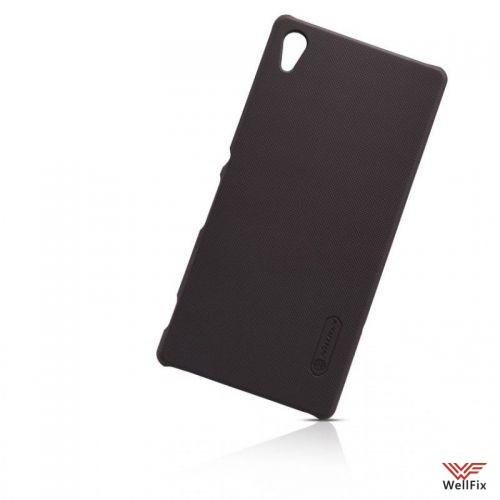 Чехол Sony Xperia Z3+, Z4 черный (Nillkin, пластик) - 1