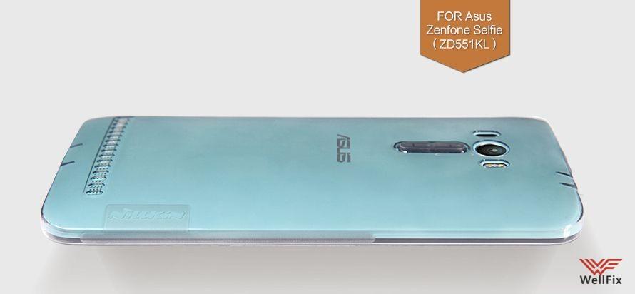 Чехол Asus Zenfone Selfie ZD551KL белый (Nillkin, силикон) - 1