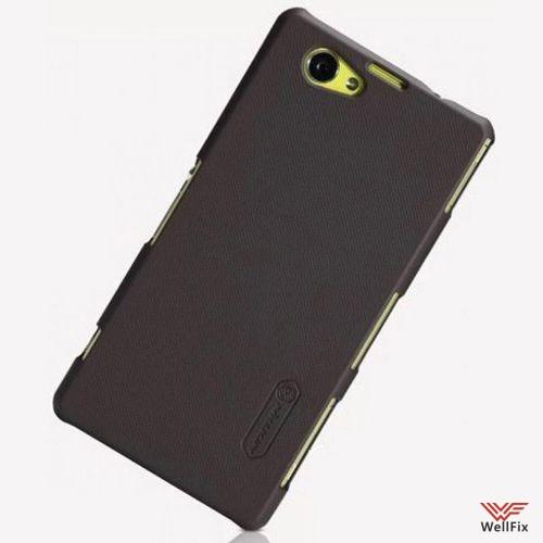 Чехол Sony Xperia Z1 Compact D5503 черный (Nillkin, пластик) - 1