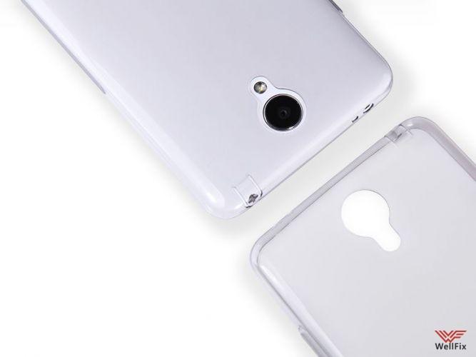 Чехол Xiaomi Redmi Note 2 белый (Nillkin, силикон) - 2