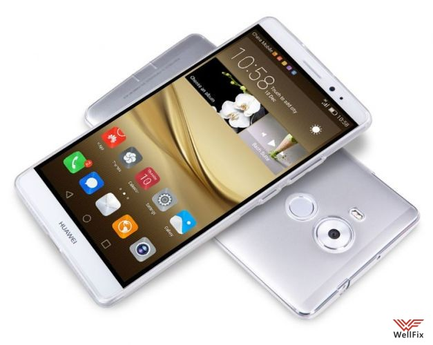 Чехол Huawei Mate 8 белый (Nillkin, силикон) - 2