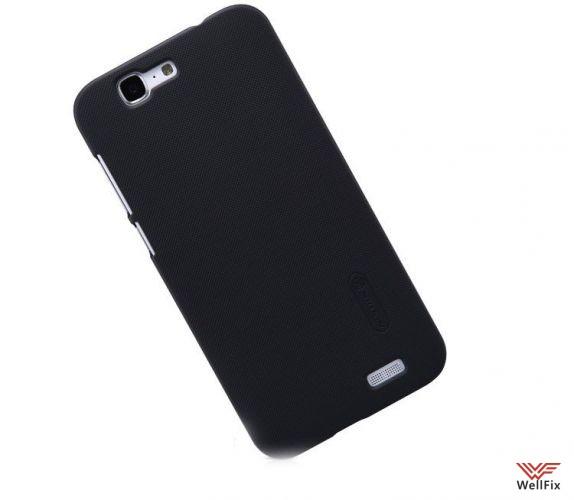 Чехол Huawei Ascend G7 черный (Nillkin, пластик) - 1