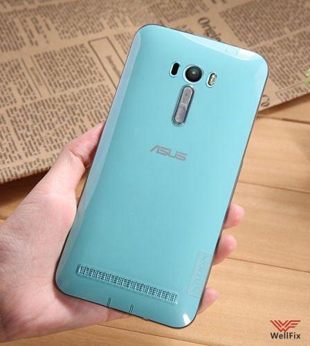 Чехол Asus Zenfone Selfie ZD551KL белый (Nillkin, силикон) - 5