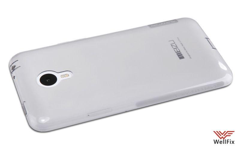 Чехол Meizu M1 Note белый (Nillkin, силикон) - 1