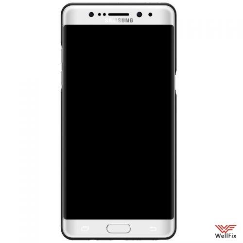 Чехол Samsung Galaxy Note 7 черный (Nillkin, пластик) - 2