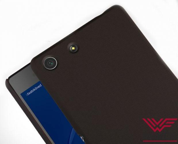 Чехол Sony Xperia M5 черный (Nillkin, пластик) - 1