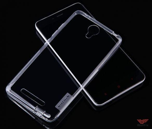 Чехол Xiaomi Redmi Note 2 белый (Nillkin, силикон) - 4