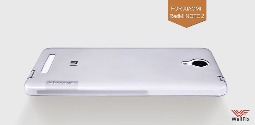 Чехол Xiaomi Redmi Note 2 белый (Nillkin, силикон) - 1