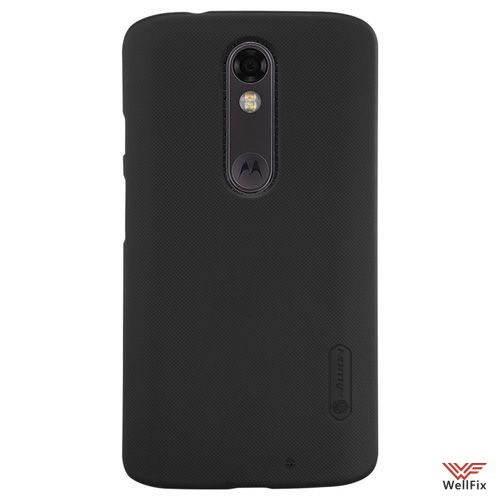 Чехол Motorola Moto X Force черный (Nillkin, пластик) - 2