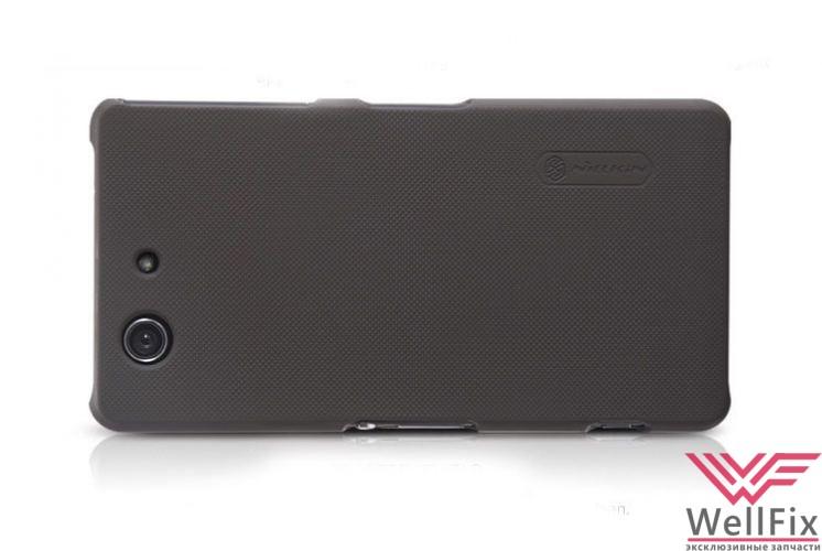 Чехол Sony Xperia Z3 Compact D5803/ D5833 черный (Nillkin, пластик) - 1