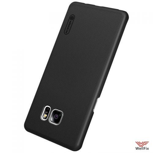 Чехол Samsung Galaxy Note 7 черный (Nillkin, пластик) - 1
