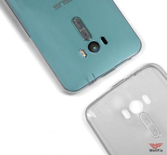 Чехол Asus Zenfone Selfie ZD551KL белый (Nillkin, силикон) - 2