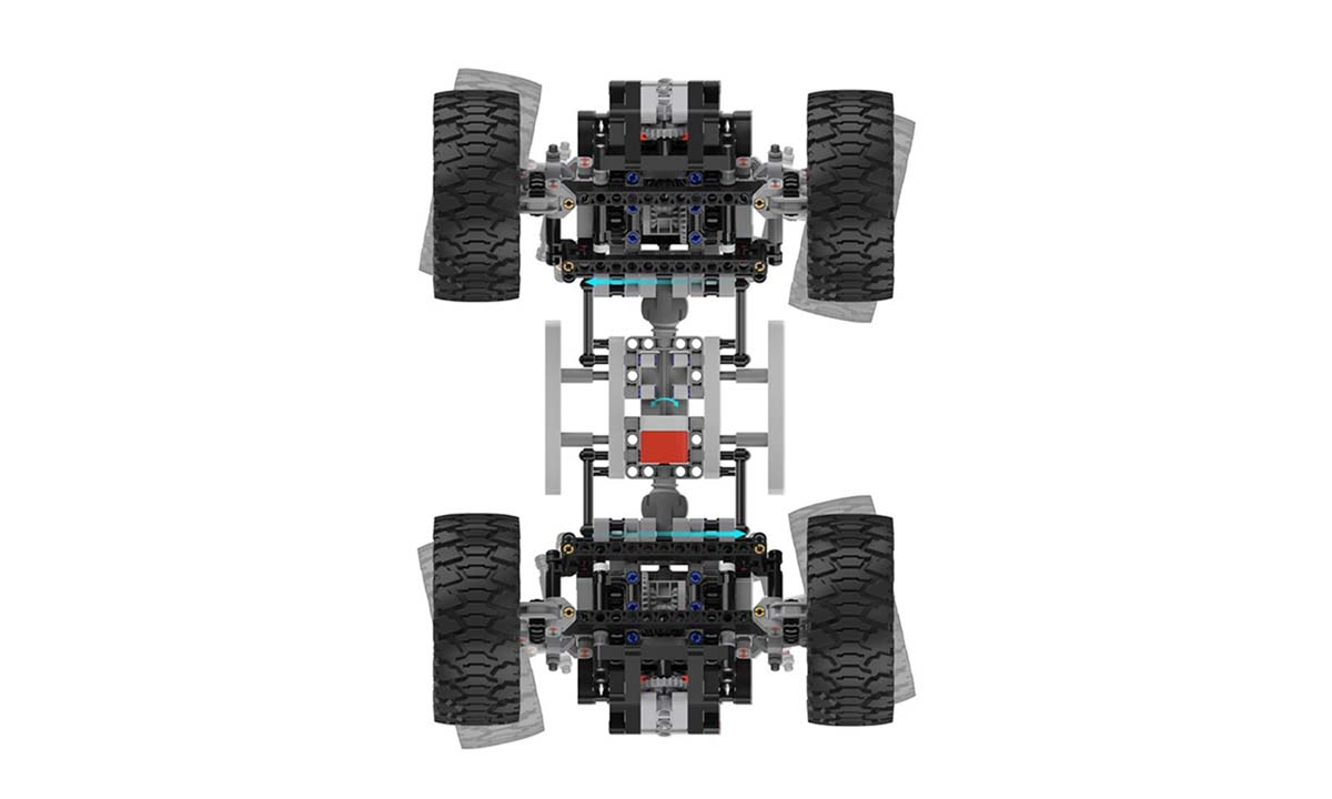 Умный конструктор внедорожник Xiaomi Intelligent Building Blocks Four-wheel Drive YYSQC01IQI - 7