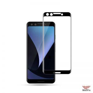 Изображение Защитное 5D стекло для Google Pixel 3 черное