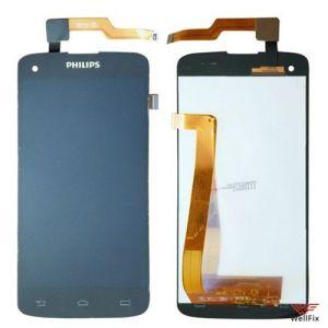 Дисплей Philips Xenium i908 с тачскрином черный