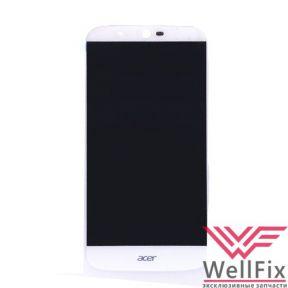 Дисплей Acer Liquid Zest Plus с тачскрином белый