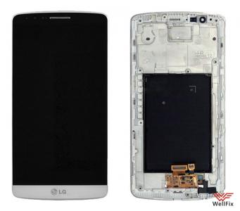 Дисплей LG G3 D855 с тачскрином белый