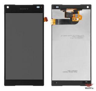 Дисплей Sony Xperia Z5 Compact с тачскрином черный