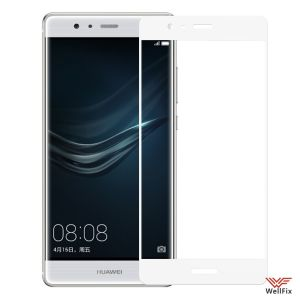 Изображение Защитное 5D стекло для Huawei P9 белое