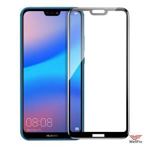 Изображение Защитное 5D стекло для Huawei P20 Lite черное