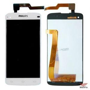 Дисплей Philips Xenium i908 с тачскрином белый