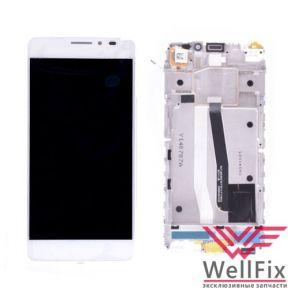 Дисплей Alcatel One Touch IDOL X+ 6043D с тачскрином белый