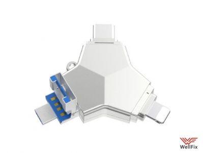 Изображение Флеш накопитель 4 в 1 iDragon U016 Lightning / Type-C / microUSB / USB 3.0 128Gb