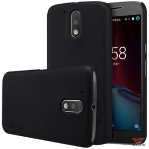 Изображение Пластиковый чехол для Motorola Moto G4 Plus черный (Nillkin)