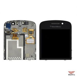 Дисплей BlackBerry Q10 с тачскрином черный