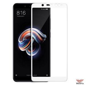 Изображение Защитное 3D стекло для Xiaomi Redmi Note 5 белое