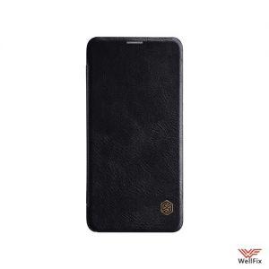 Изображение Кожаный чехол-книжка для OnePlus 6 черный (Nillkin Qin)