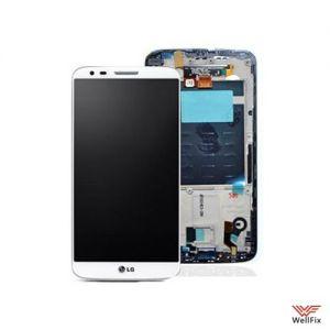 Дисплей LG G2 D802 с тачскрином белый