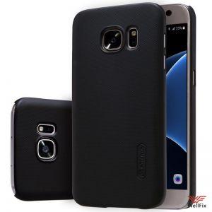 Изображение Пластиковый чехол для Samsung Galaxy S7 черный (Nillkin)