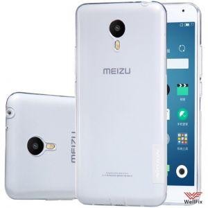 Чехол Meizu Metal белый (Nillkin, силикон)