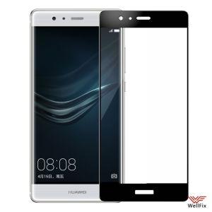 Изображение Защитное 5D стекло для Huawei P9 черное