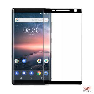 Изображение Защитное 5D стекло для Nokia 8 Sirocco черное
