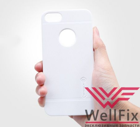 Чехол Apple iPhone 5, 5s, 5se белый (Nillkin, пластик)