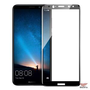 Изображение Защитное 5D стекло для Huawei Mate 10 Lite черное