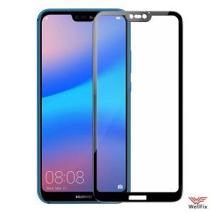 Изображение Защитное 3D стекло для Huawei P20 Lite черное