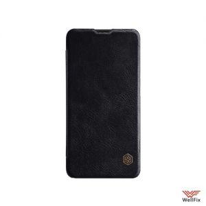 Изображение Кожаный чехол-книжка для OnePlus 6T черный (Nillkin Qin)