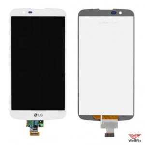 Дисплей LG K10 K410 с тачскрином белый