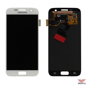 Дисплей Samsung Galaxy S7 SM-G930 с тачскрином белый