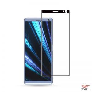 Изображение Защитное 5D стекло для Sony Xperia 10 черное