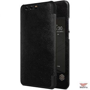 Изображение Кожаный чехол-книжка для Huawei P10 Plus черный (Nillkin Qin)