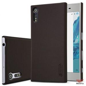 Изображение Пластиковый чехол для Sony Xperia XZ черный (Nillkin)