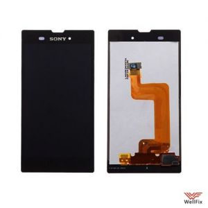 Дисплей Sony Xperia T3 с тачскрином черный