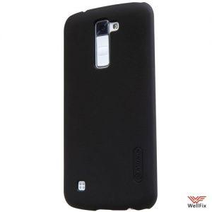 Чехол LG K10 K410 черный (Nillkin, пластик)