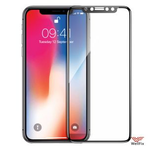 Изображение Защитное 5D стекло для Apple iPhone X, XS, 11 Pro черное