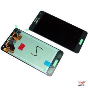Дисплей Samsung Galaxy Alpha SM-G850F с тачскрином черный