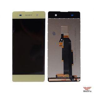 Изображение Дисплей для Sony Xperia XA (F3112) в сборе желтый